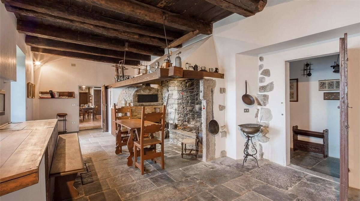 historic 1600s residence overlooking Lake Orta mansions