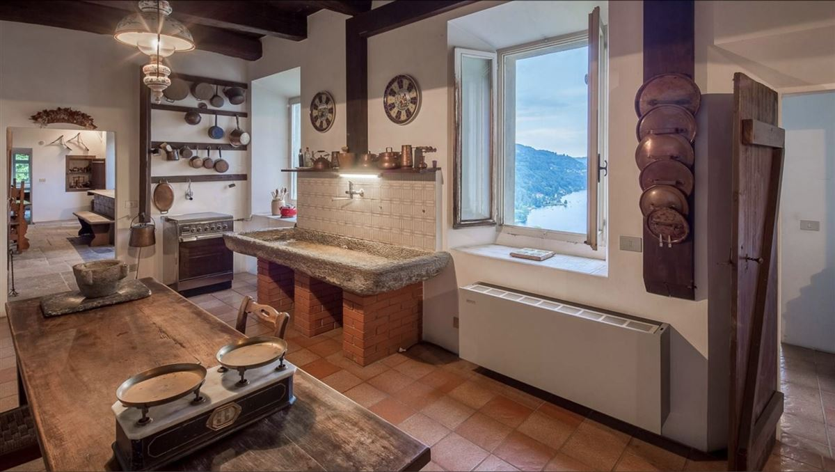 Luxury homes in historic 1600s residence overlooking Lake Orta