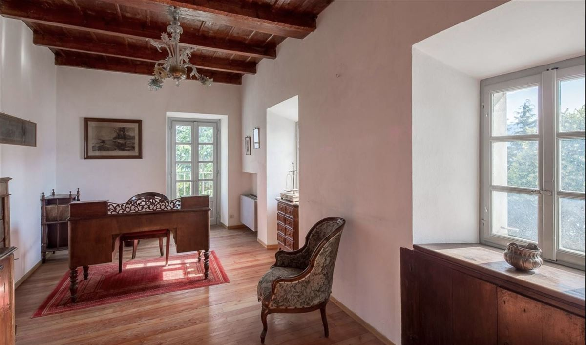 Mansions in historic 1600s residence overlooking Lake Orta