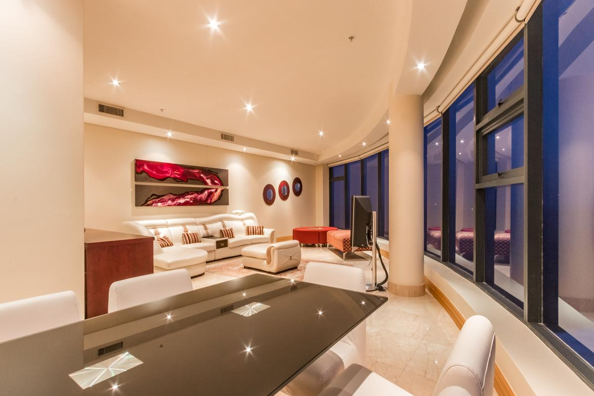 Luxury real estate modern Penthouse with sweeping views