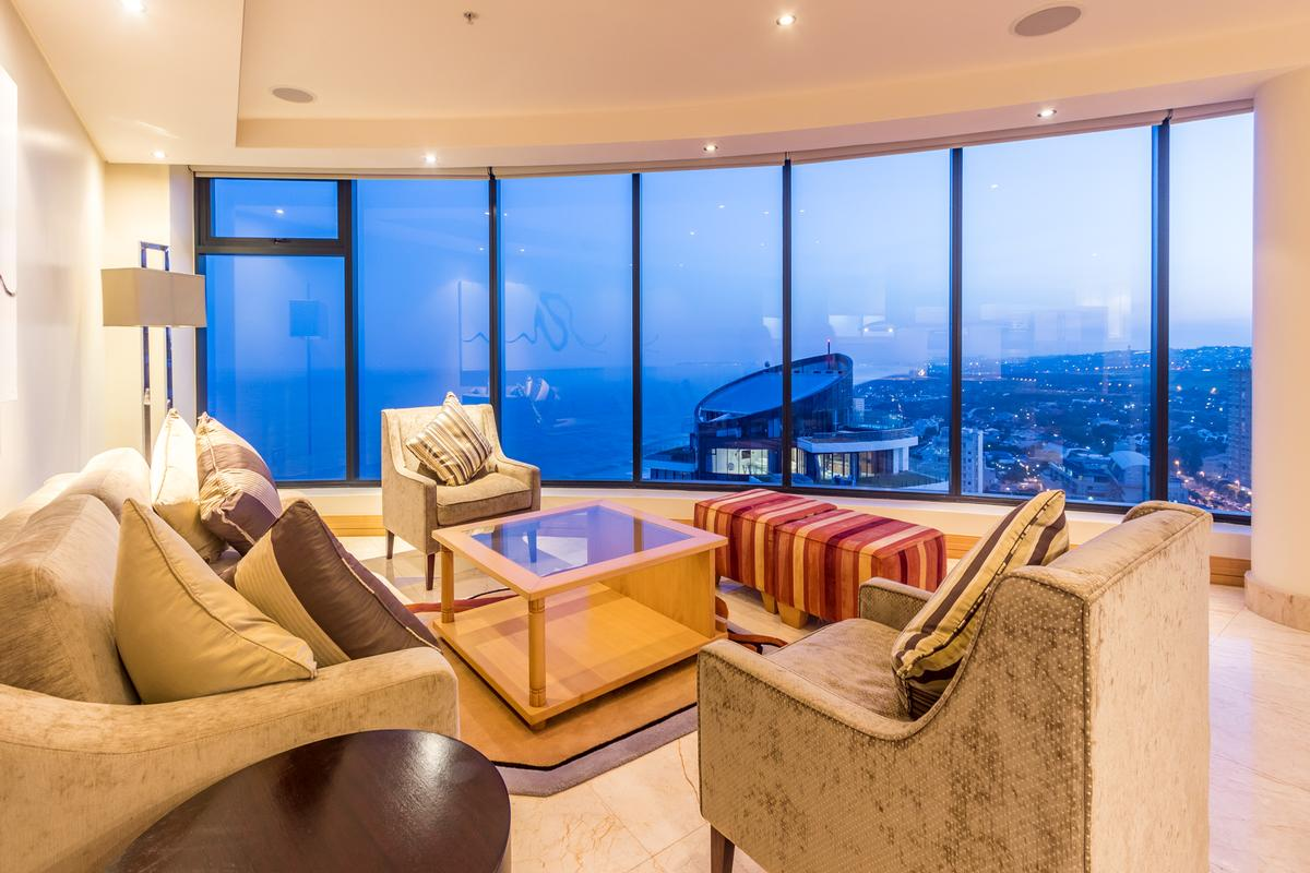 modern Penthouse with sweeping views luxury real estate