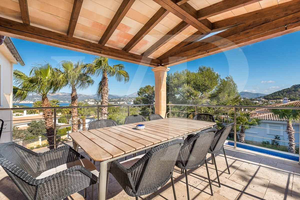 Luxury real estate beautiful santa ponsa home with sea and hills view