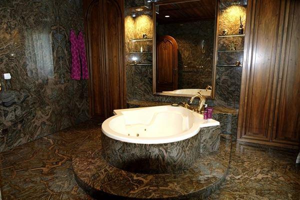 Luxury real estate  stately villa set on beautiful grounds