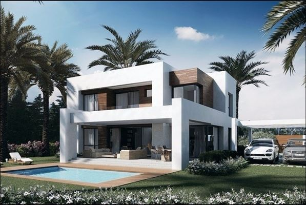 new construction modern villa mansions