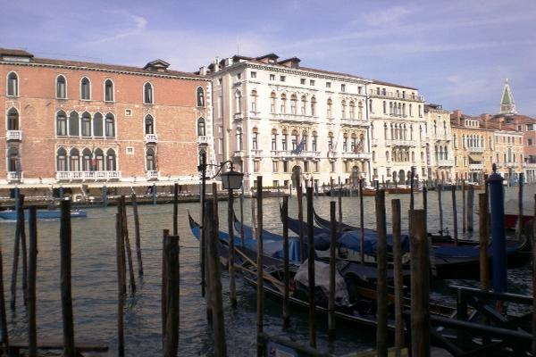 The terrace on the Grand Canal mansions