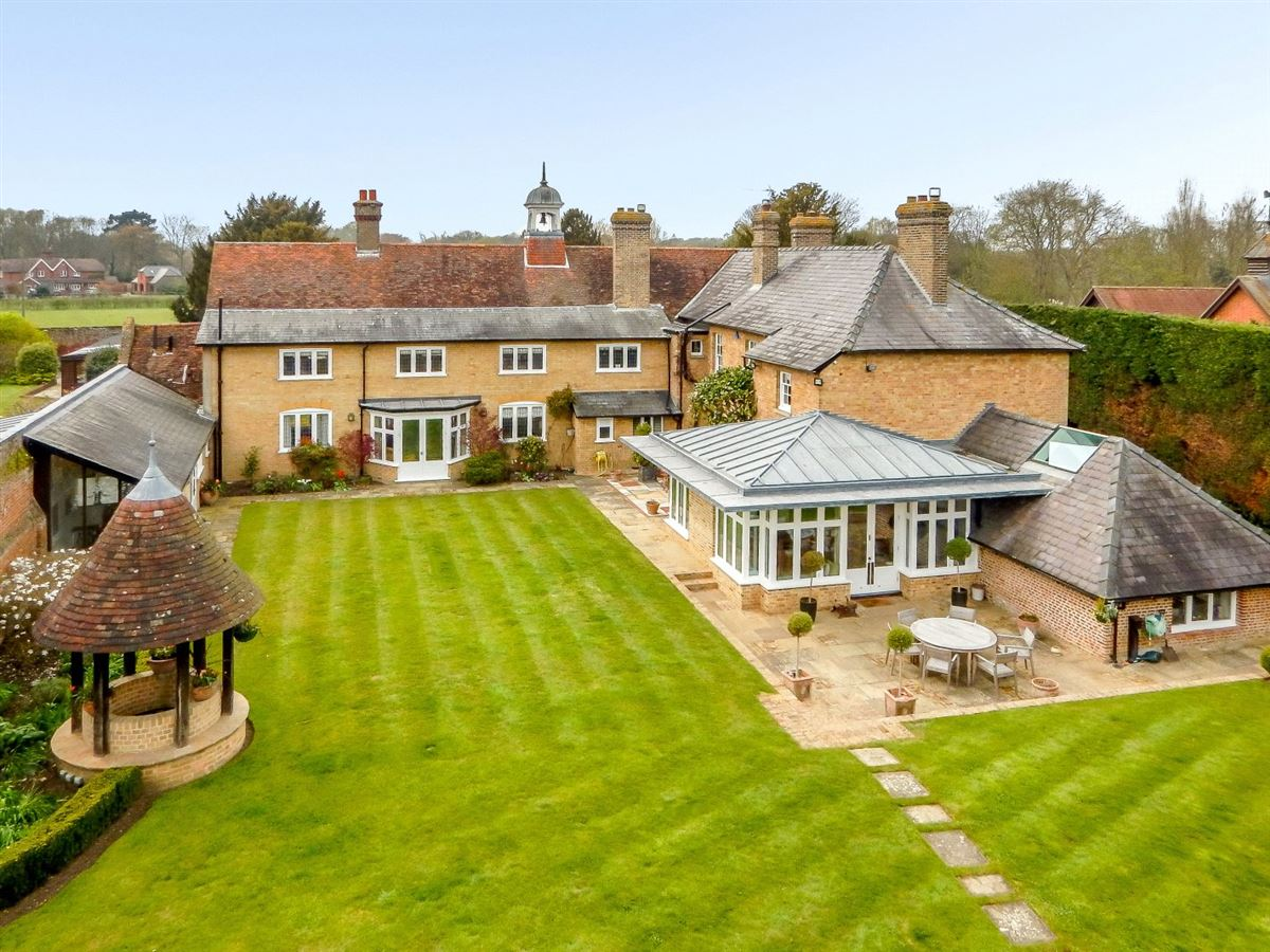 Nine Ashes Farmhouse is a substantial property on lovely grounds luxury homes