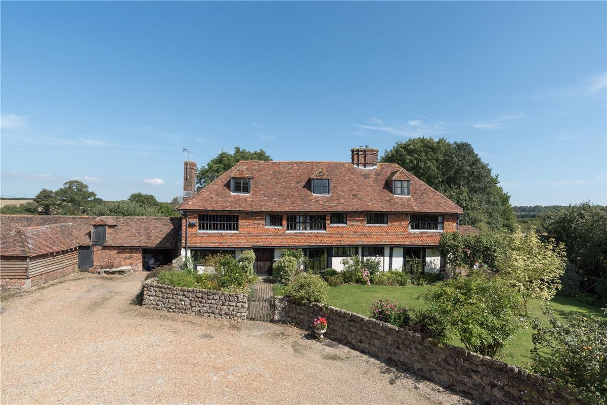 A wonderful and historic farmhouse with traditional stables and a Kentish barn luxury homes