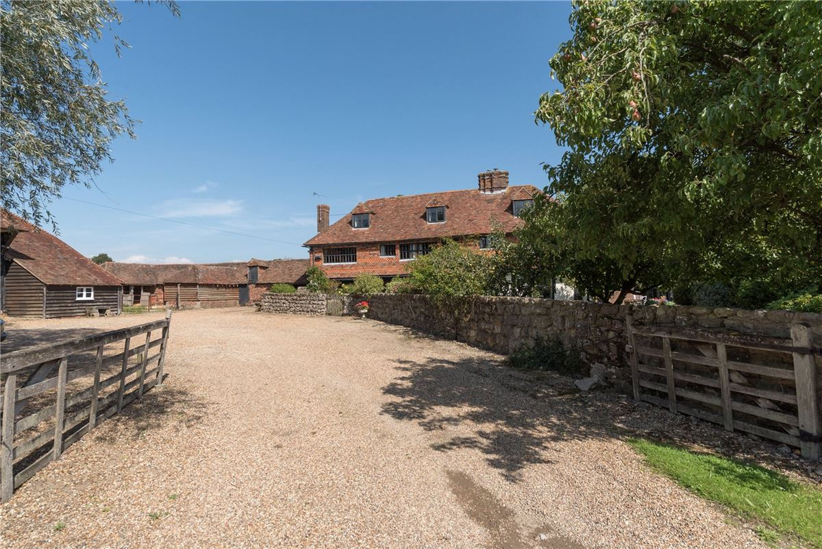 A wonderful and historic farmhouse with traditional stables and a Kentish barn luxury real estate