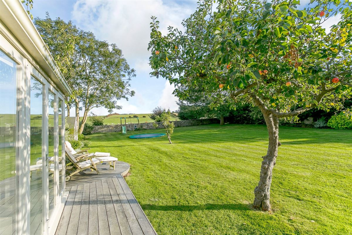 Luxury real estate this substantial home boasts wonderful Downland views