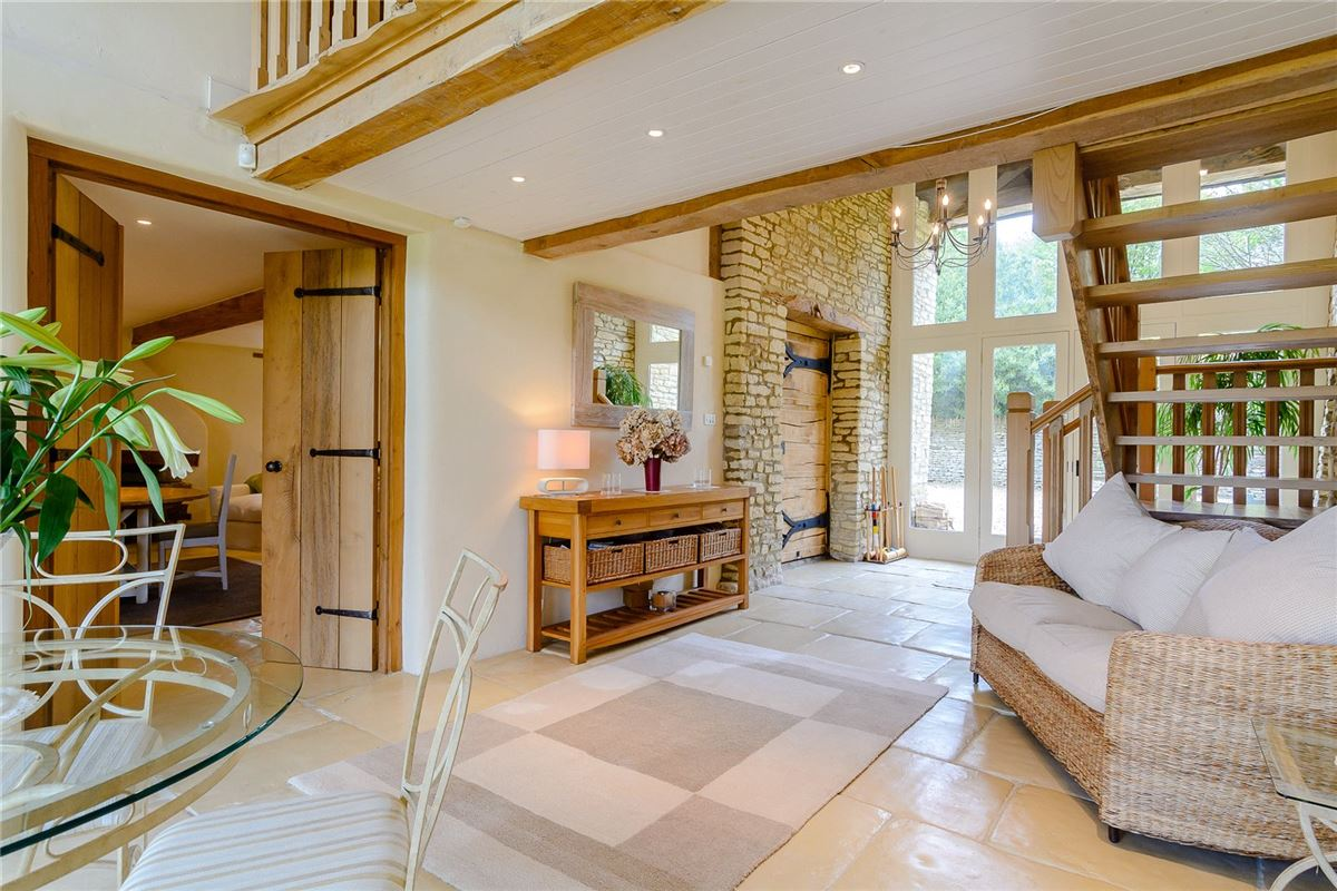 Luxury homes charming edge of village Cotswold stone barn with land and outbuildings