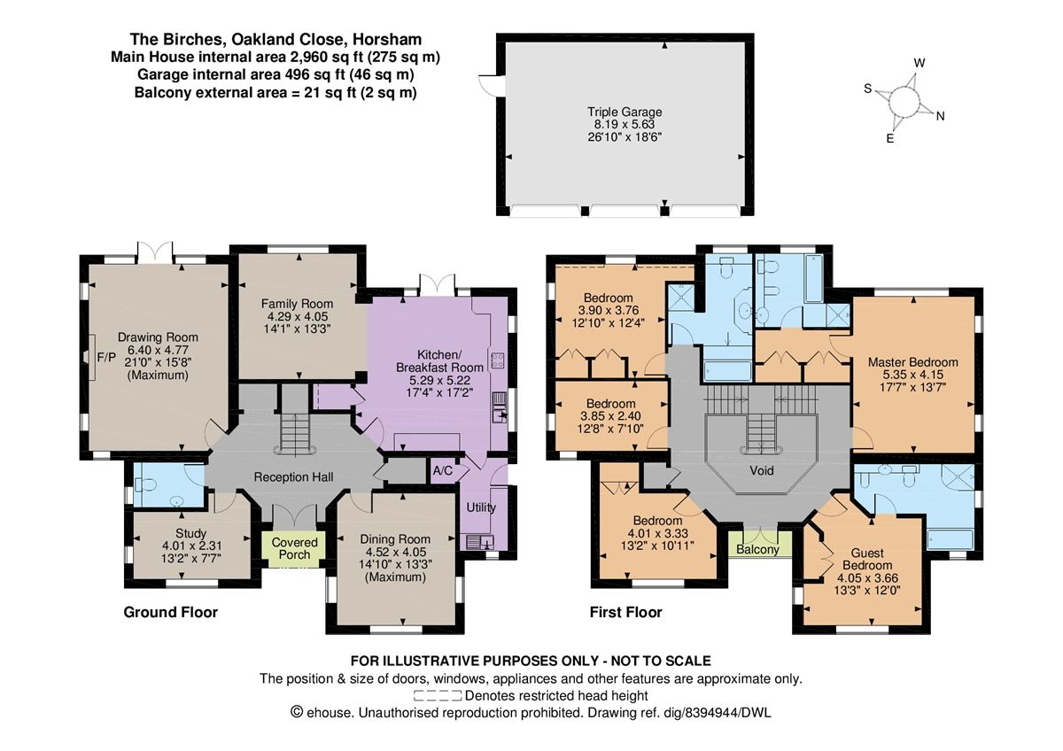 Luxury homes in handsome home offering light and spacious accommodation