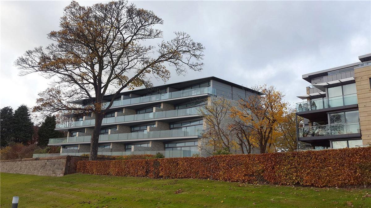 Luxury real estate impressive apartment with terrace overlooking Edinburgh skyline