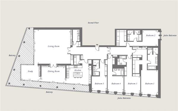 Luxury homes in five bedroom apartment overlooking Kensington Palace Gardens