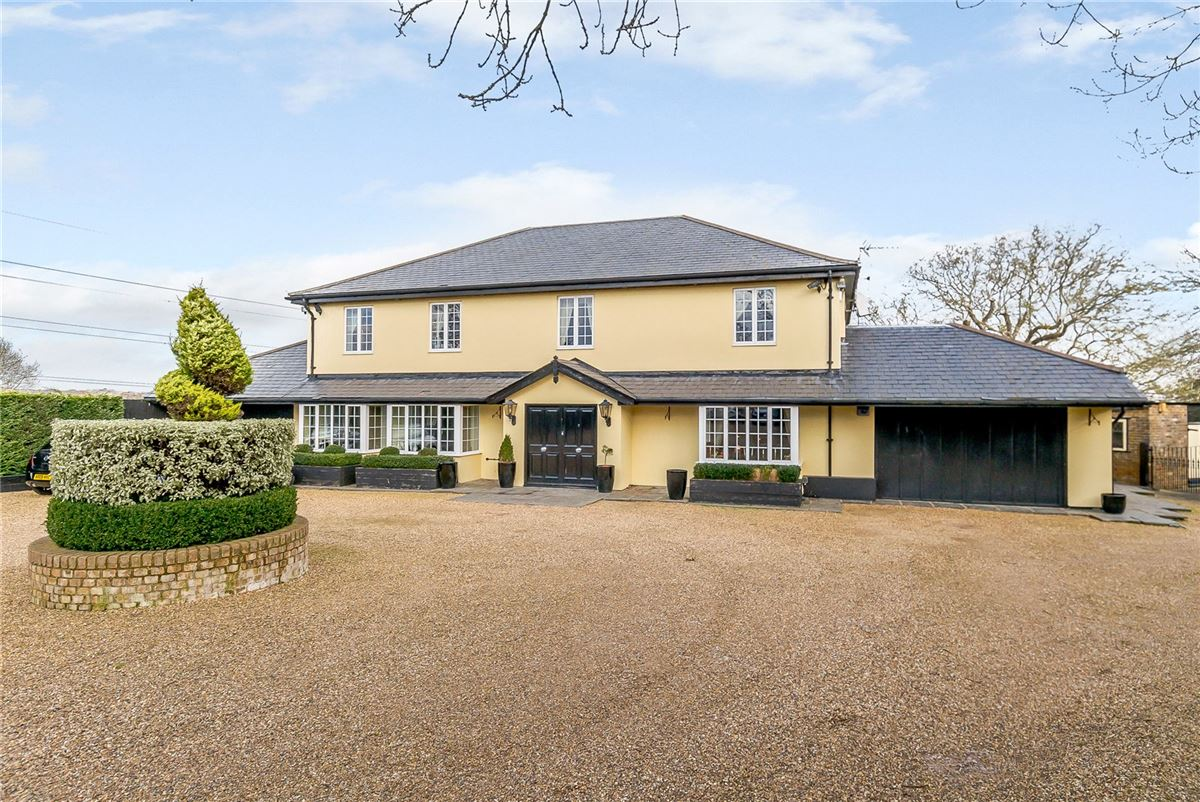 desirable detached farmhouse offers stunning views luxury homes