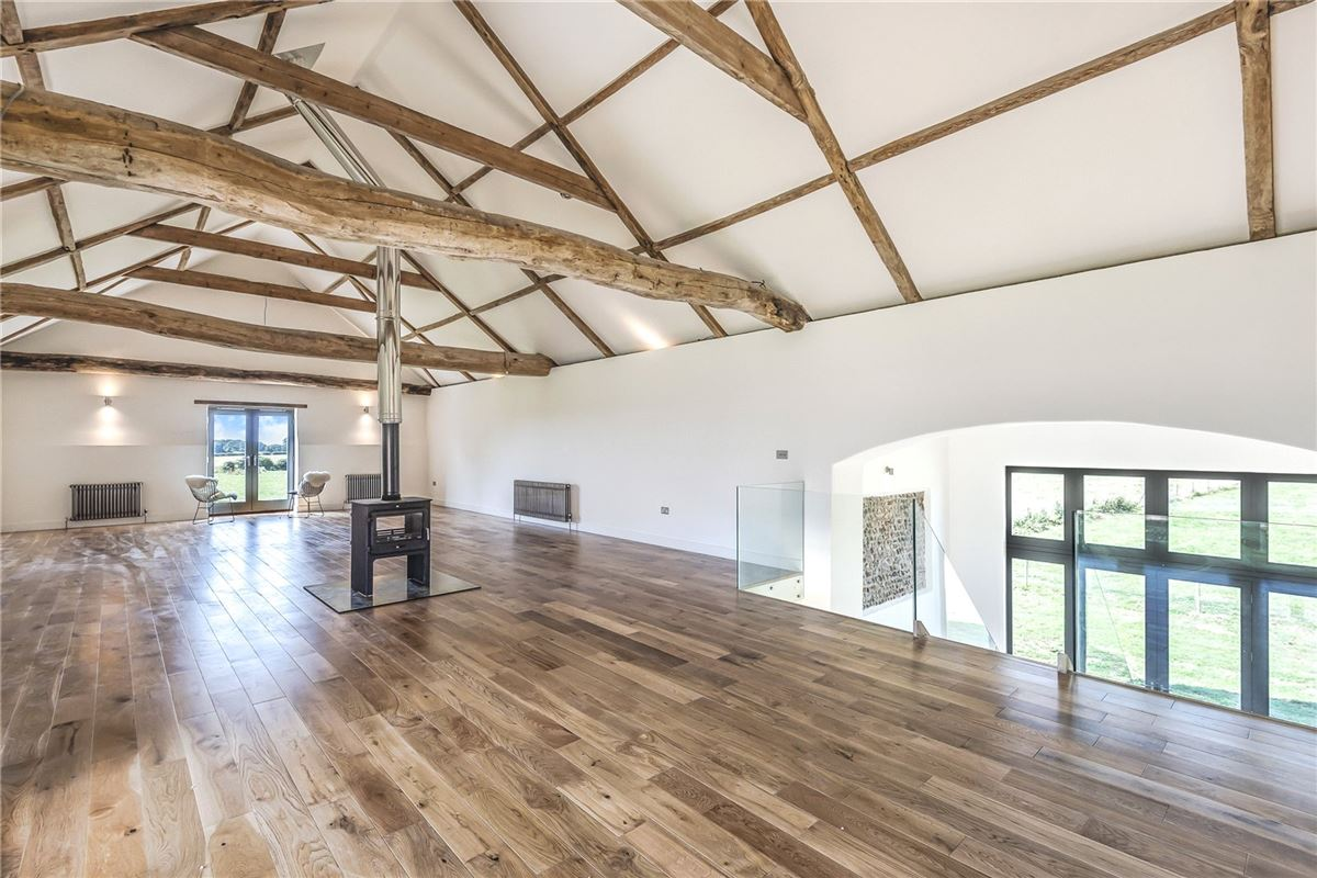 Luxury real estate Threshers Barn is an impressive two-storey barn conversion