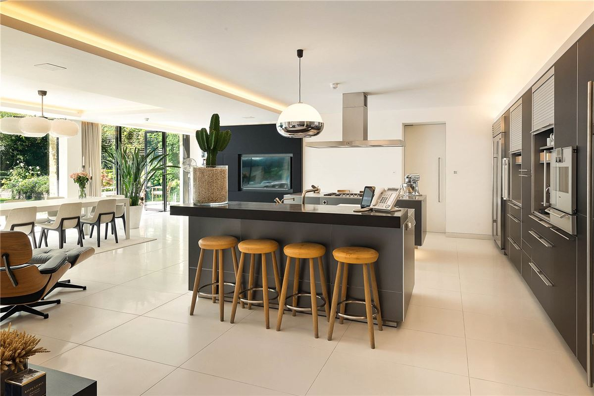 Luxury real estate meticulously rebuilt prominent home