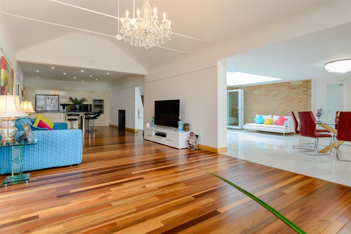 Luxury real estate Extended and renovated home with a flexible plan