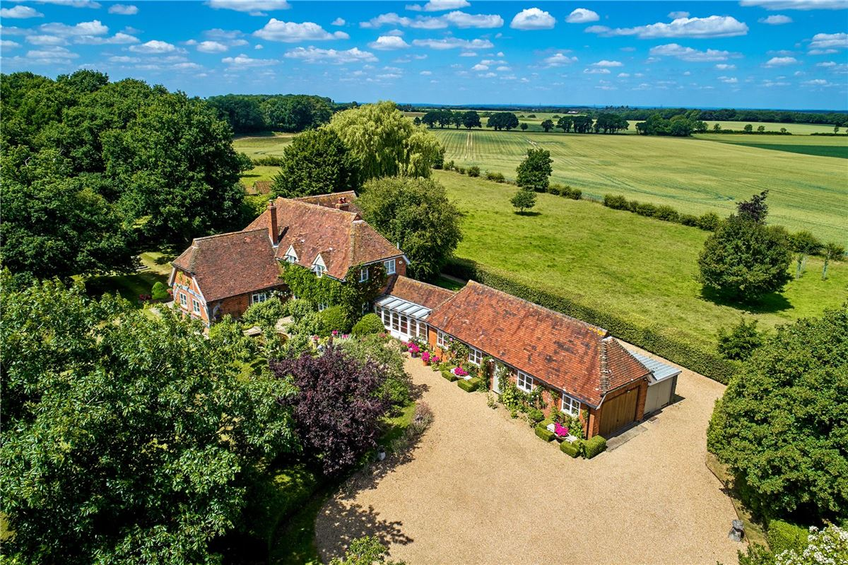 Luxury homes a charming wisteria-clad detached country house