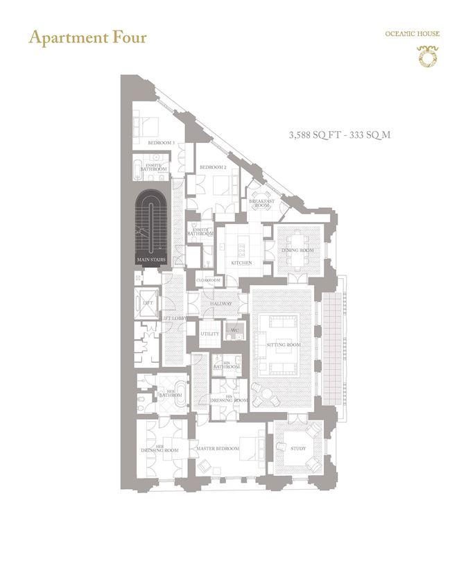 Luxury properties elegant and spacious apartment