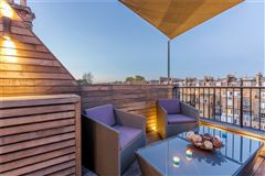 top floor maisonette with a fantastic roof terrace mansions