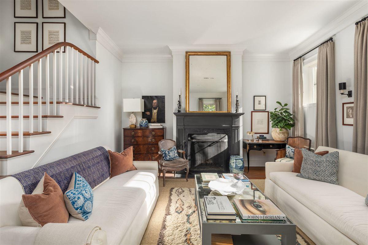 Luxury properties historic Rainbow Row home