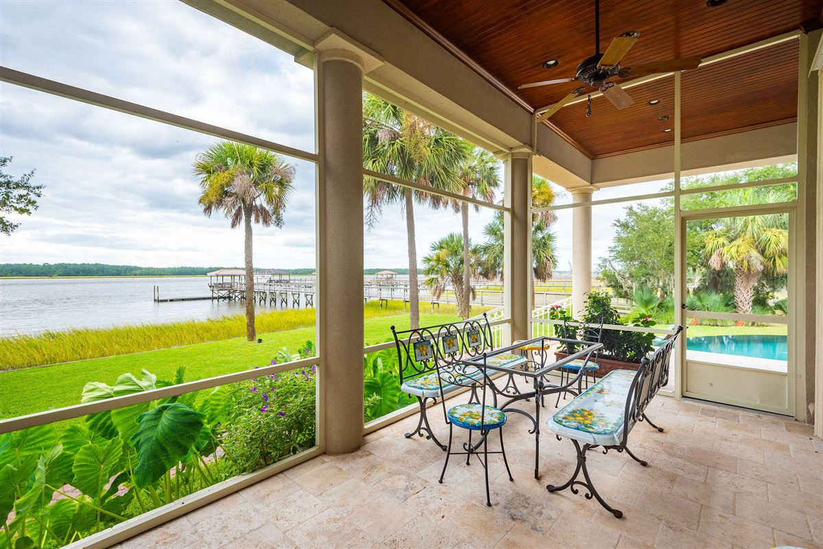 Mansions in private island waterfront living