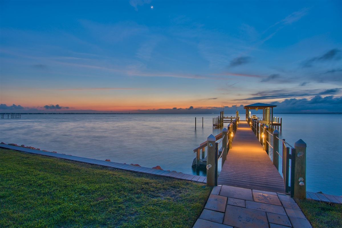 Luxury real estate private gated bay-front estate
