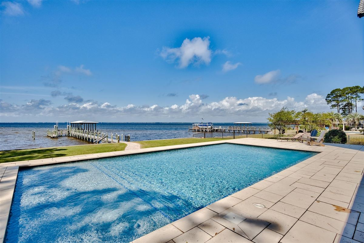 private gated bay-front estate luxury real estate
