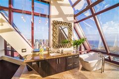 Mansions open floor concept penthouse with amazing views