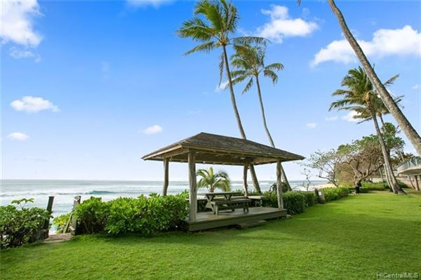 Luxury homes beach front estate with views of hawaiian sunsets