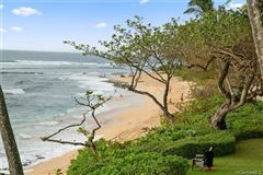 Luxury real estate beach front estate with views of hawaiian sunsets