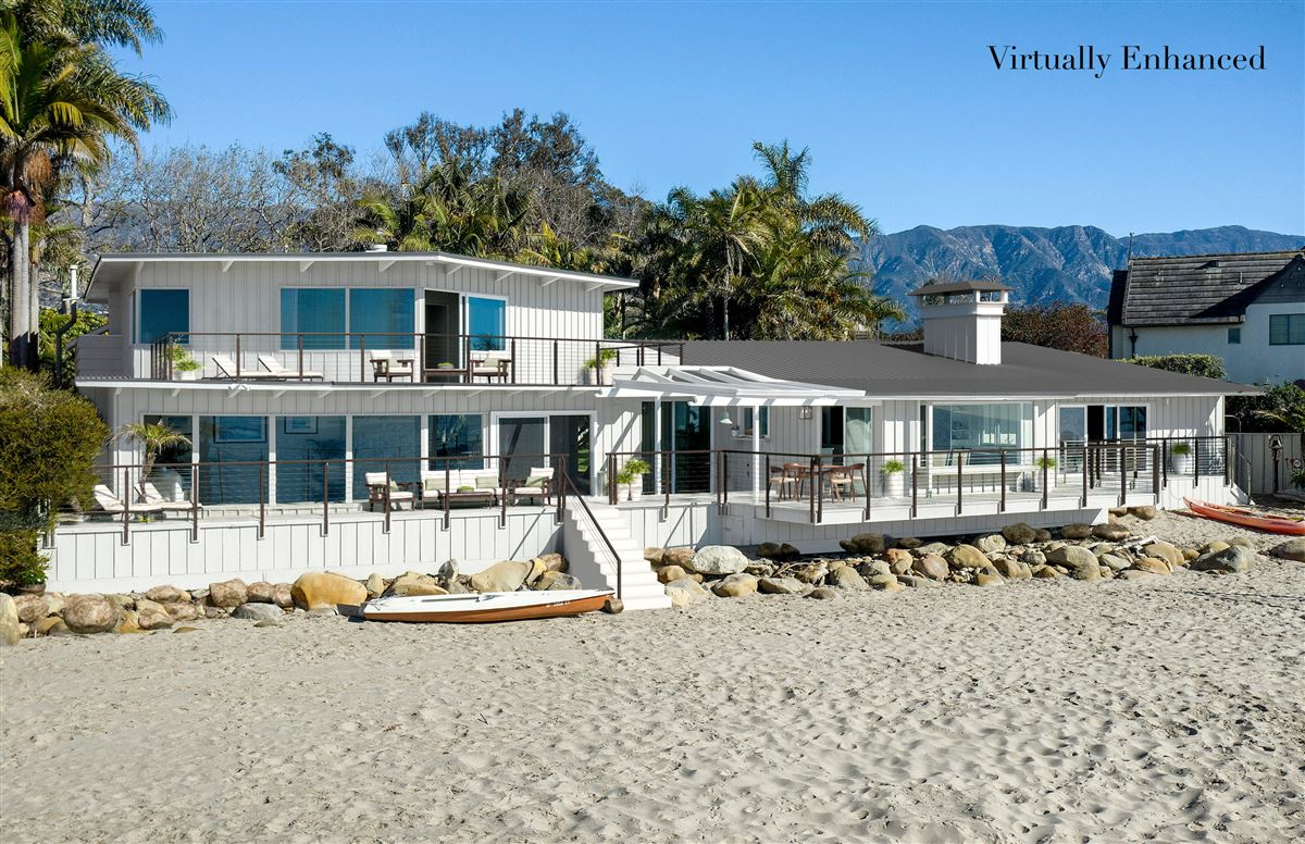 Luxury real estate rare opportunity on the sand in Montecito