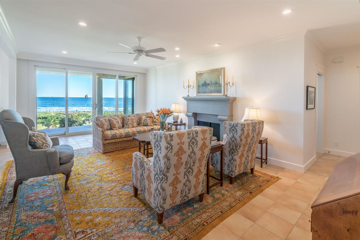 best location on the beach at Montecito Shores mansions