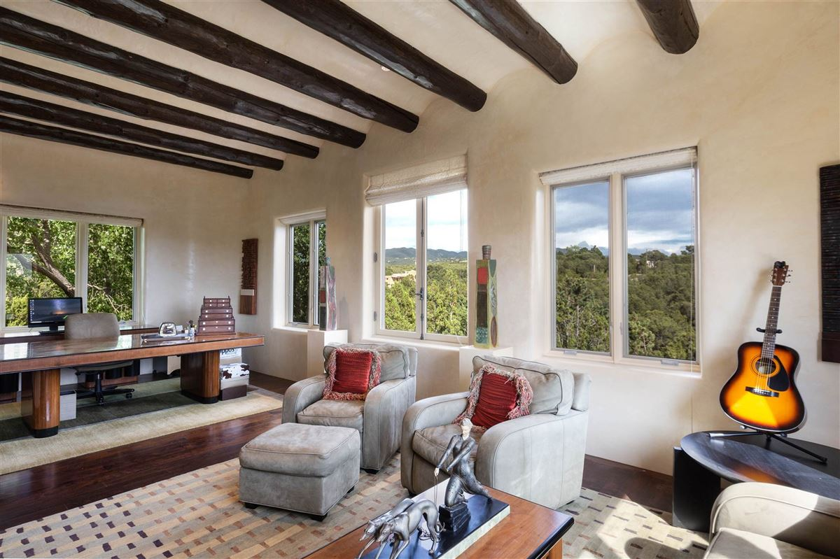 astoundingly beautiful gated santa fe estate luxury real estate