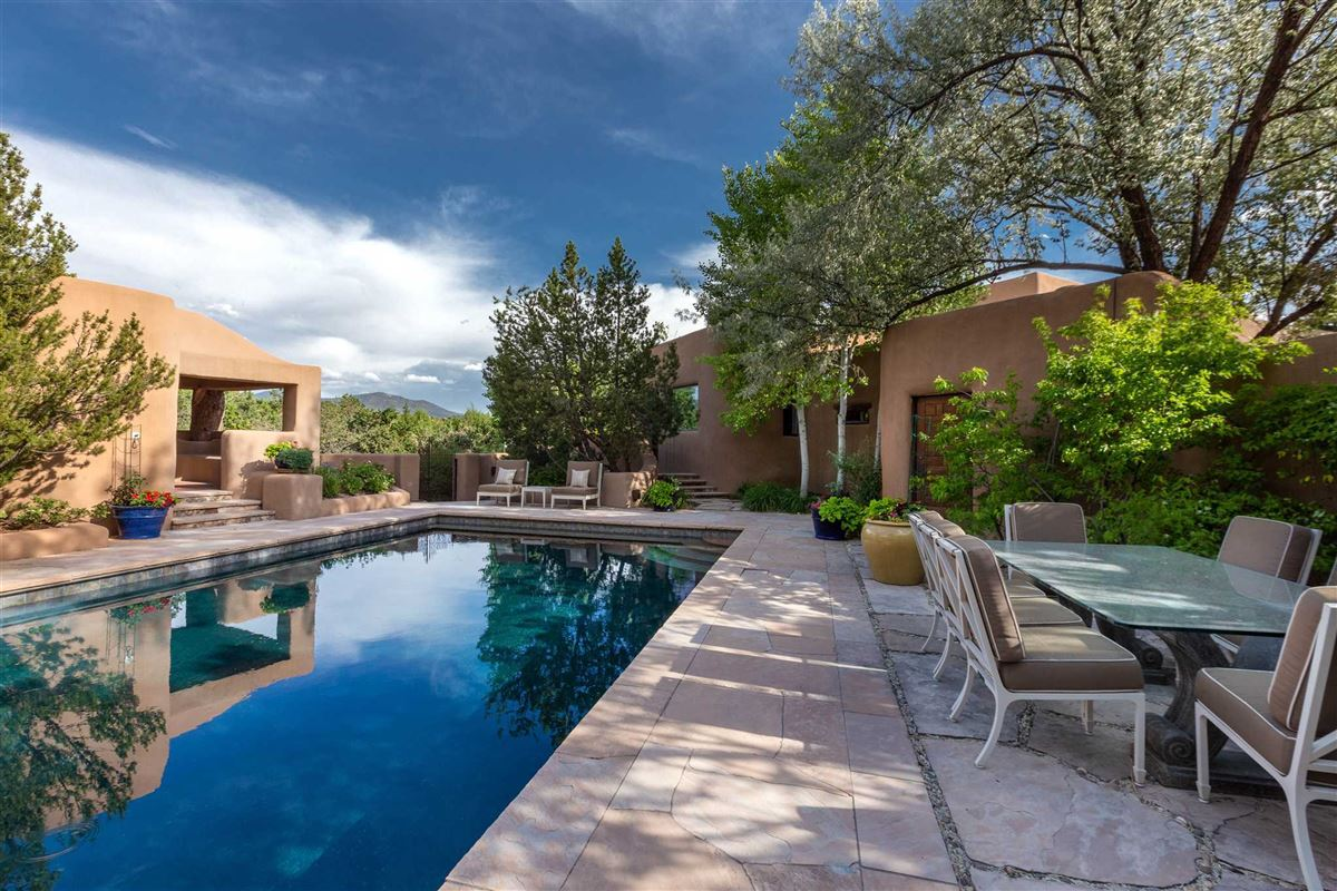 astoundingly beautiful gated santa fe estate luxury homes