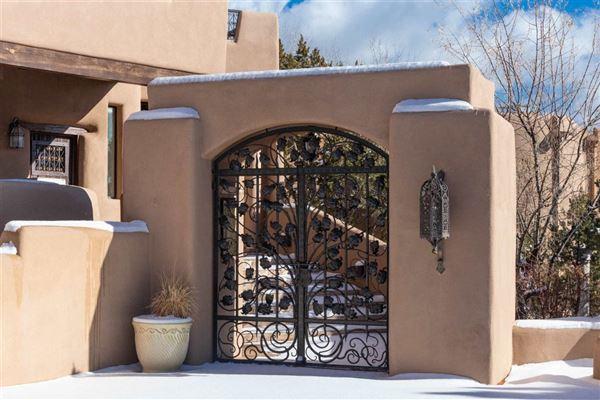 astoundingly beautiful gated santa fe estate mansions
