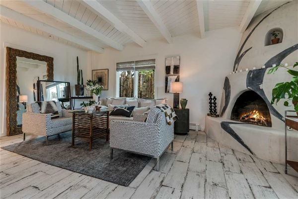 remarkable home and guest house in Santa Fe luxury real estate