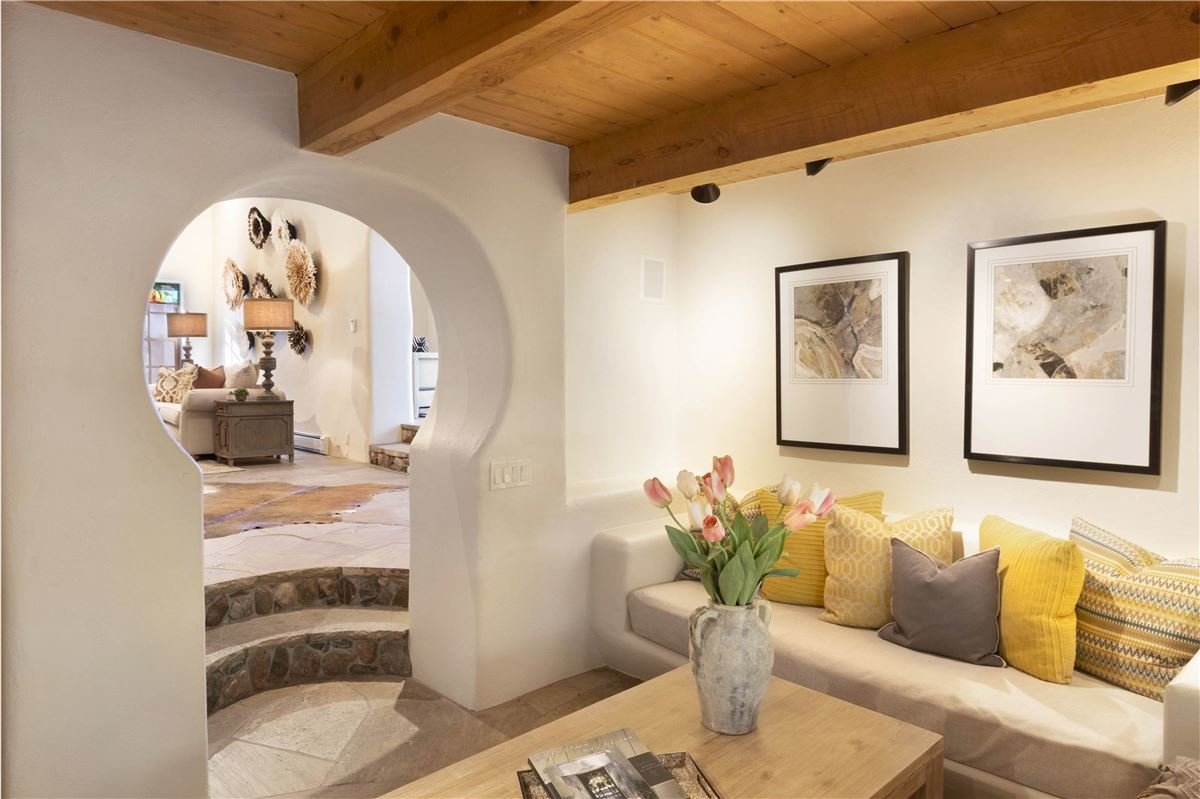 Luxury real estate a sleepy Eastside lane in santa fe