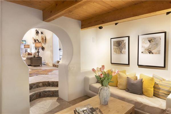 Luxury real estate a sleepy Eastside lane in santa fe