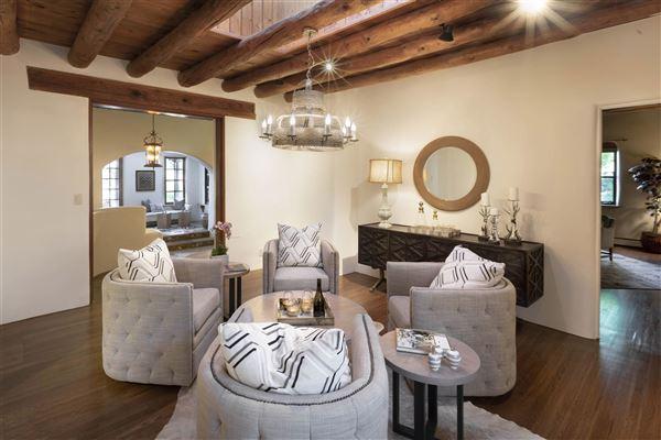 Luxury properties a sleepy Eastside lane in santa fe