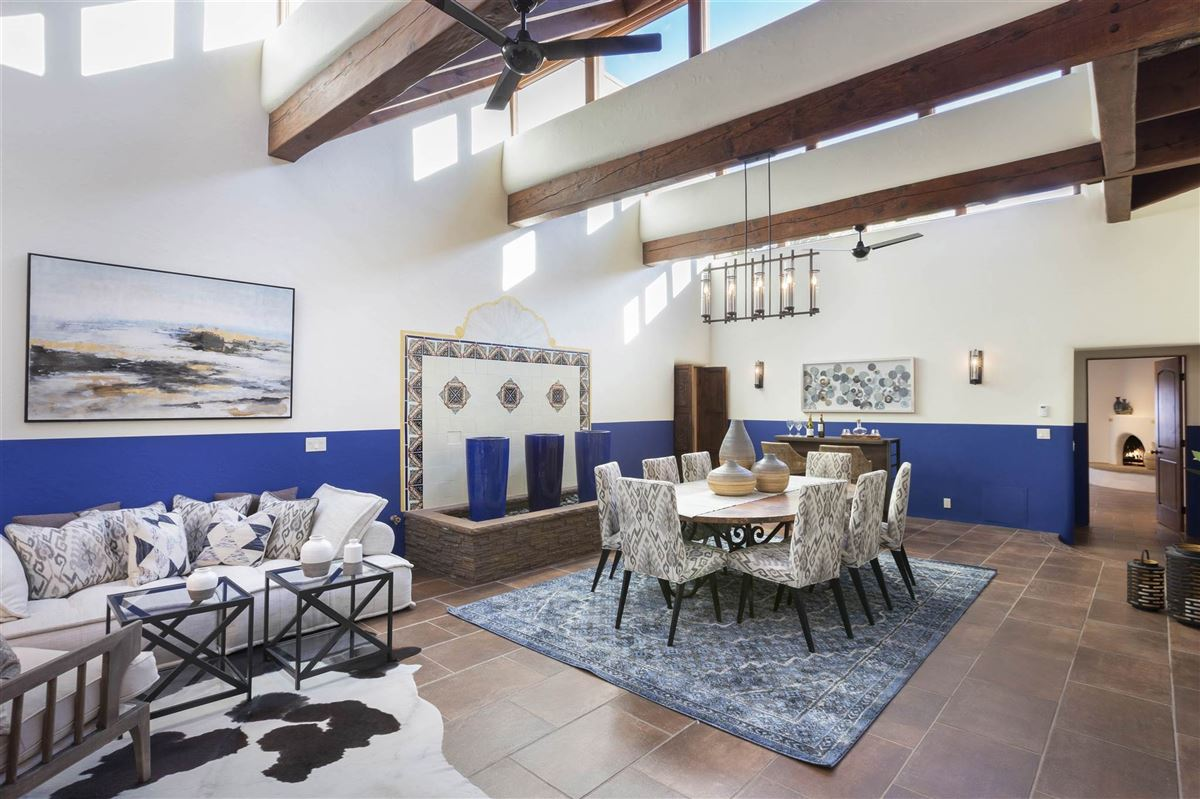 a sleepy Eastside lane in santa fe luxury properties