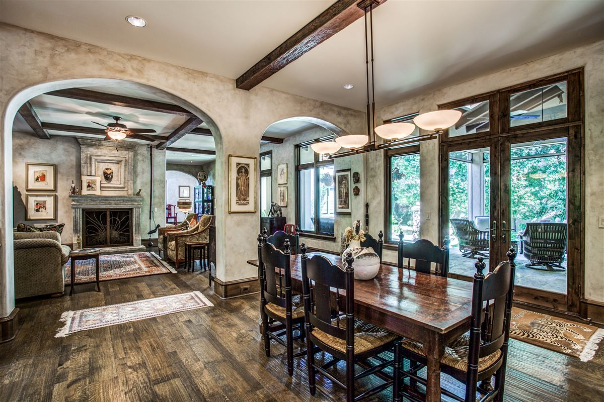 Luxury real estate custom home on coveted corner lot