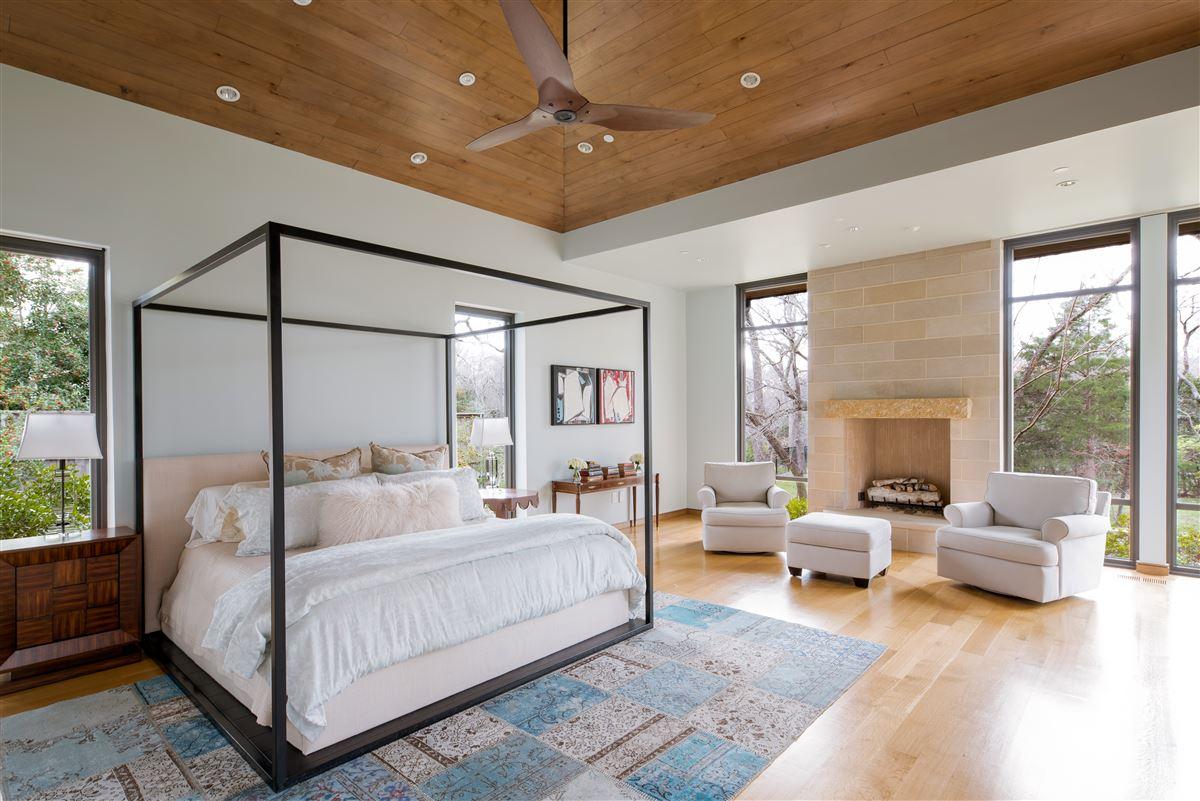 Luxury real estate modern-day design in a splendid environment