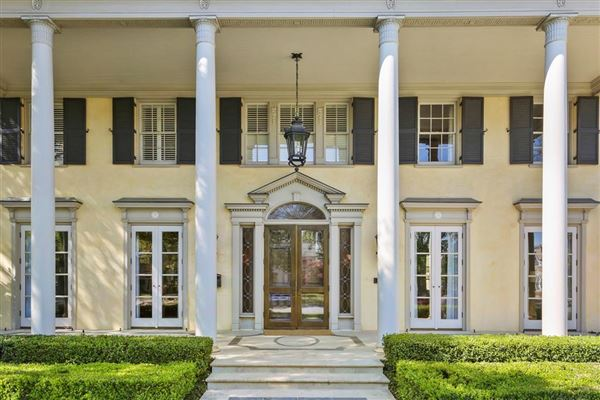 Luxury properties Neoclassical Estate on prestigious Beverly Drive