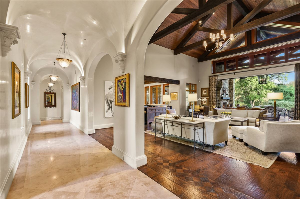 gated and updated dallas retreat luxury homes