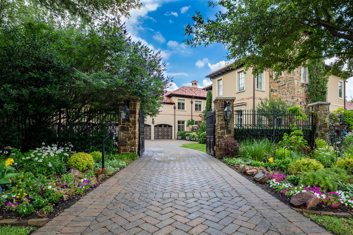 gated and updated dallas retreat luxury properties