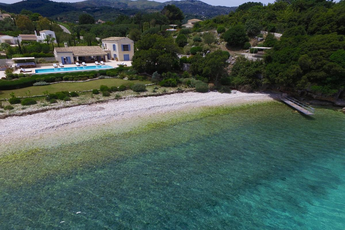 exclusive north east coast of Corfu luxury properties