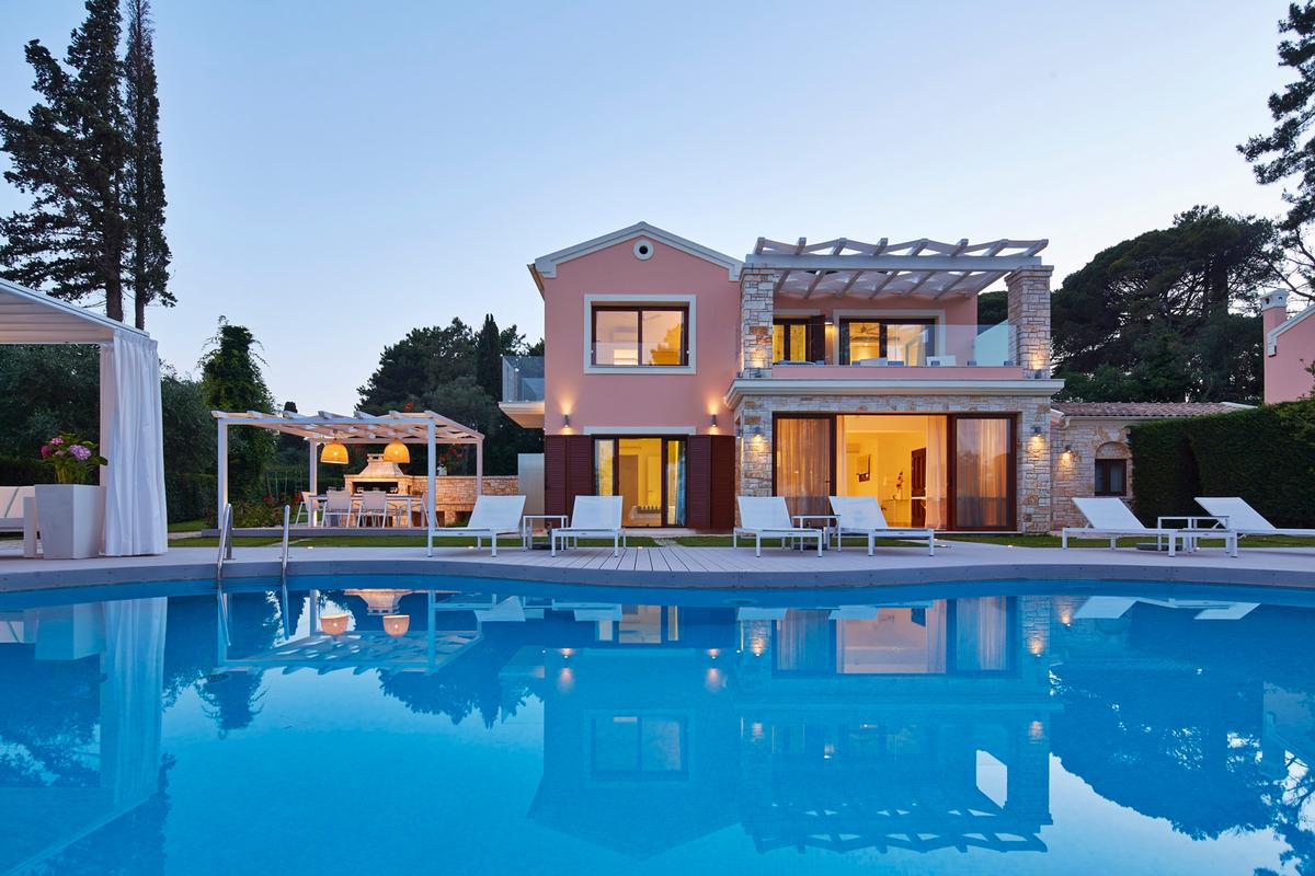 Luxury homes Corfu Island villa for rent