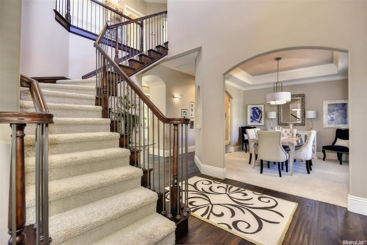Luxury real estate stunning, custom-built home in rocklin