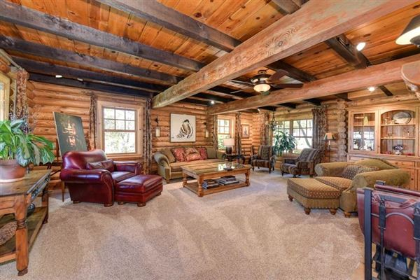 Luxury homes in an extraordinary log home
